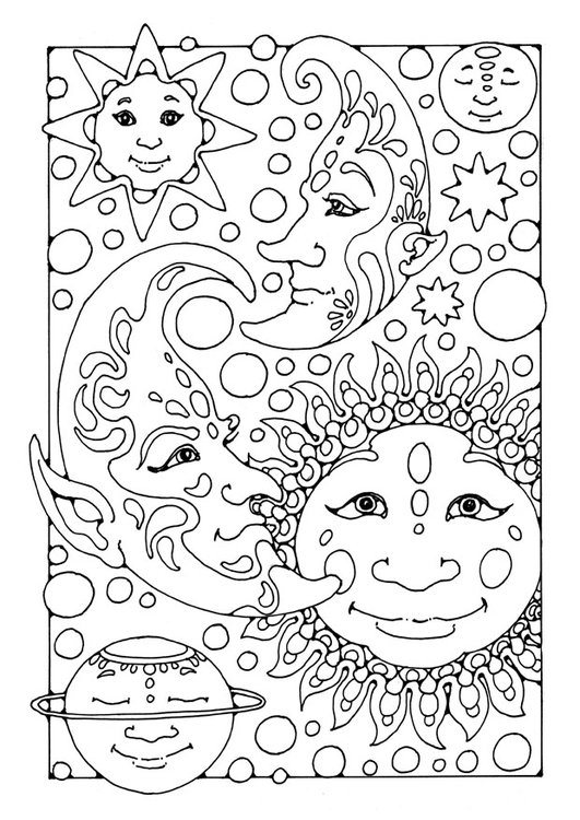 Adult Coloring Pages For (Almost) Every Mood Create To Donate