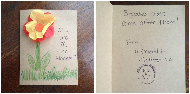 Make inspirational cards and add fun sayings
