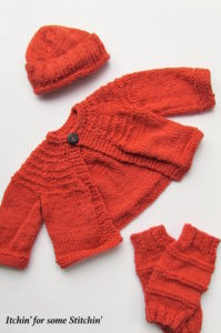 Knit baby set made with love Itichin' For Some Stichin'