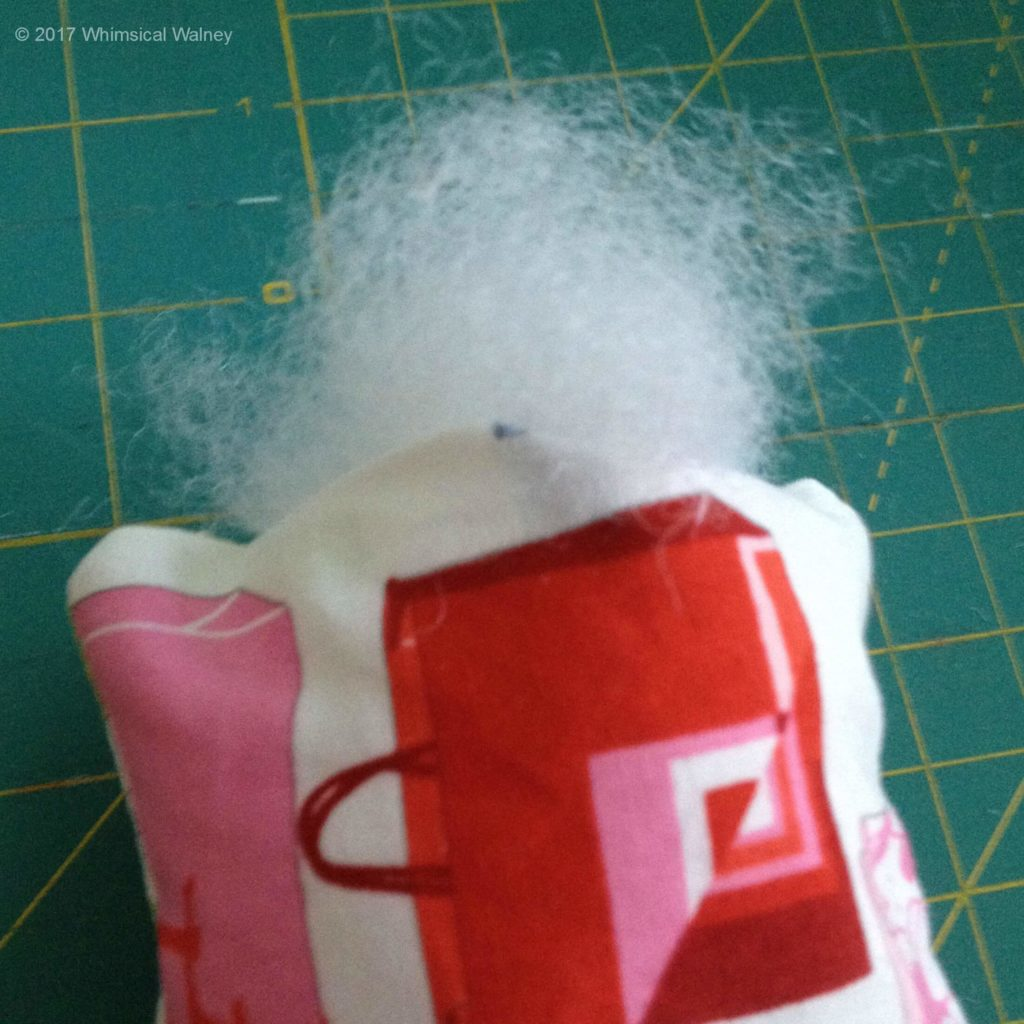 Stuff the port-a-cath pillow with polyester fiberfill.