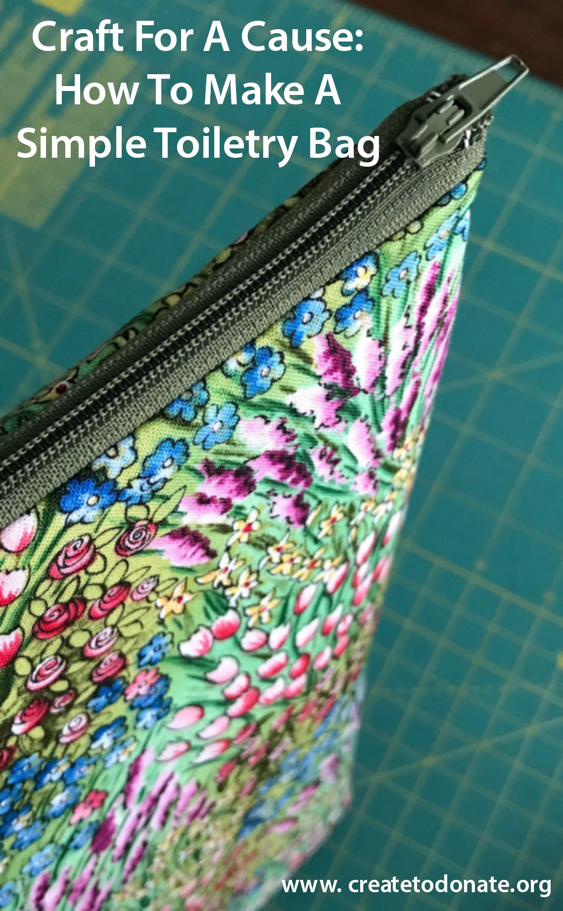 How To Make A Simple Toiletry Bag Create To Donate