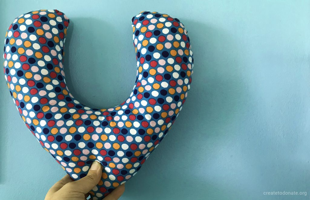 Sew a mastectomy pillow for someone affected by breast cancer