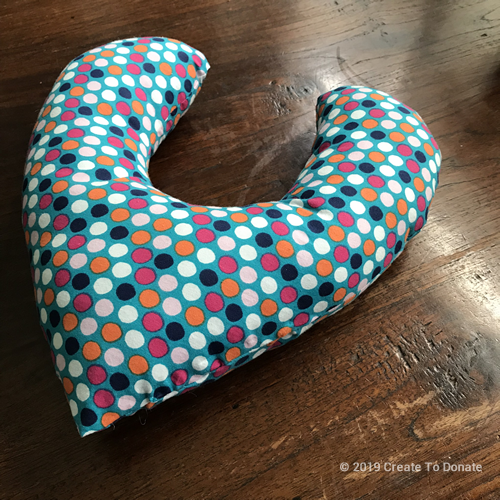 Make a mastectomy pillow for someone you know who is battling breast cancer.