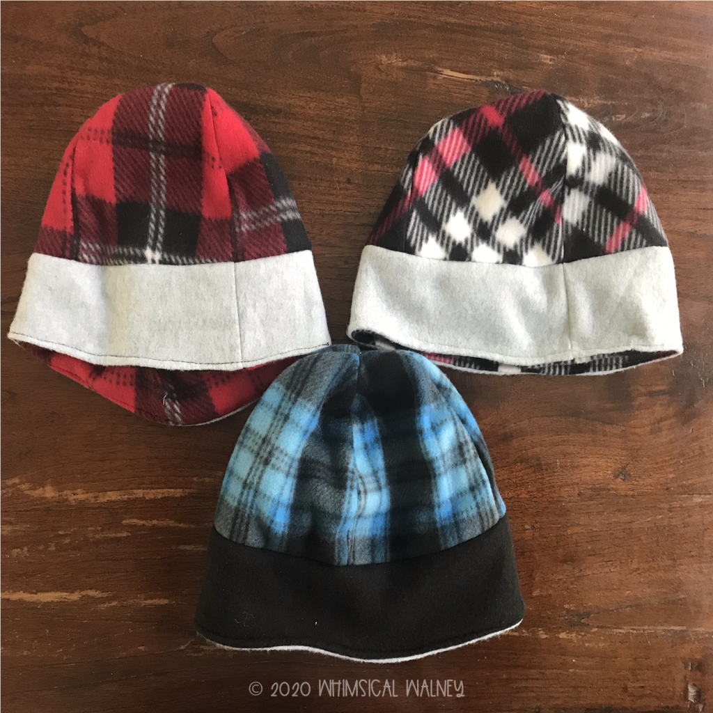 Fleece beanie is one of the easy accessories to make.