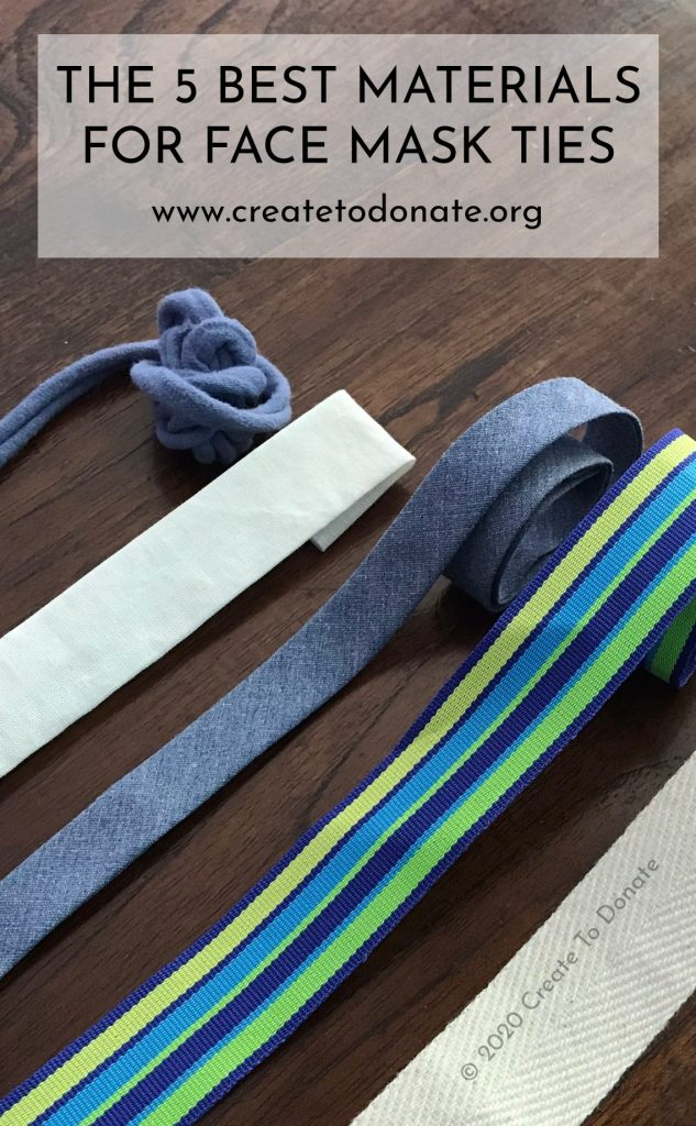 Best materials for face mask ties