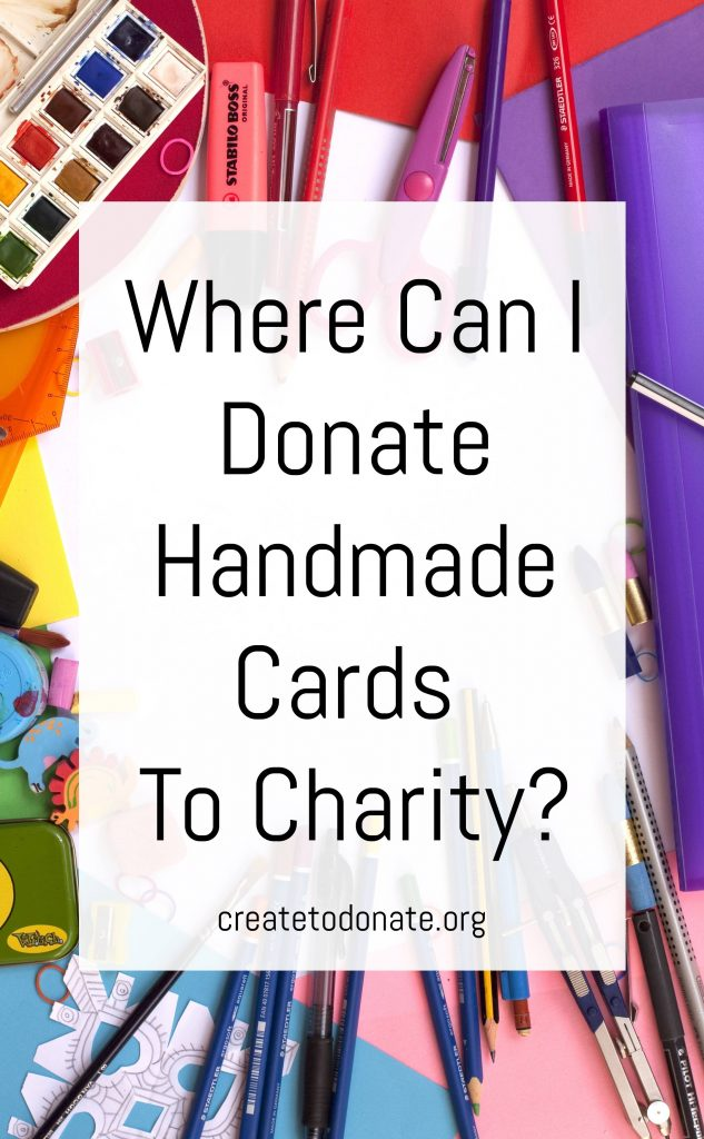 Let's donate handmade cards to charity.