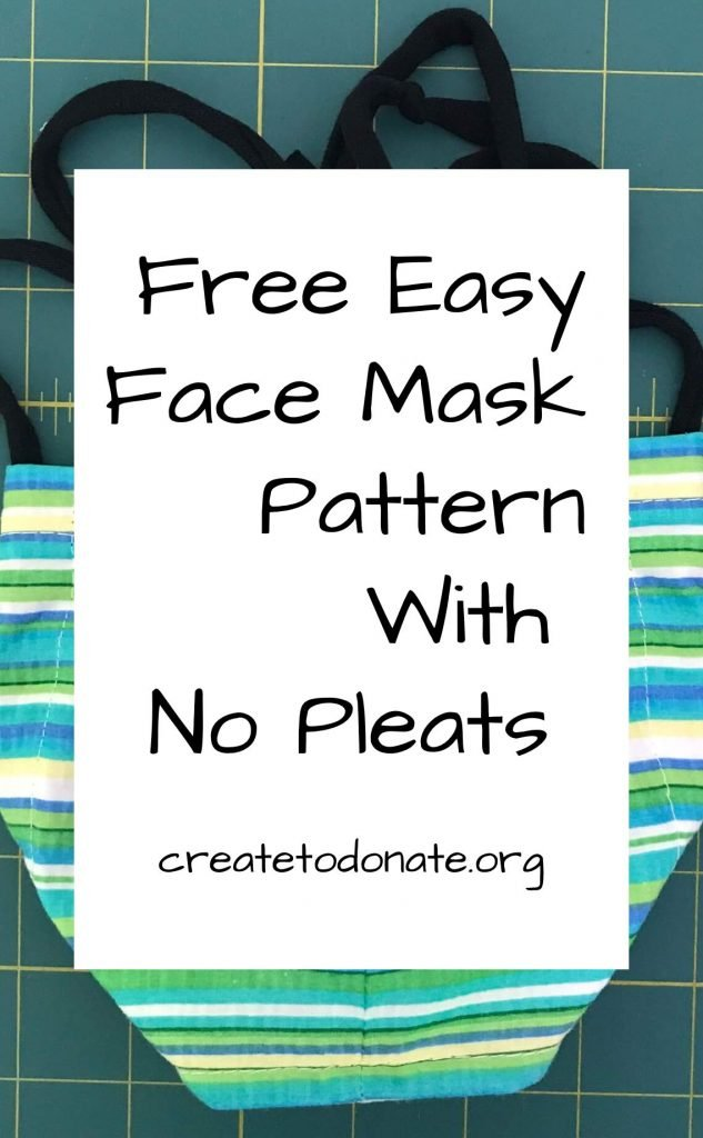 Free easy face mask pattern no pleats