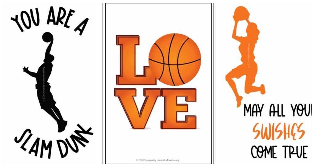 Free basketball printable handmade cards