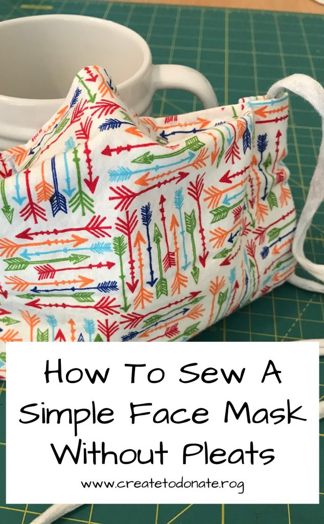 This tutorial walks you through the steps of sewing a simple fabric face mask without pleats.
