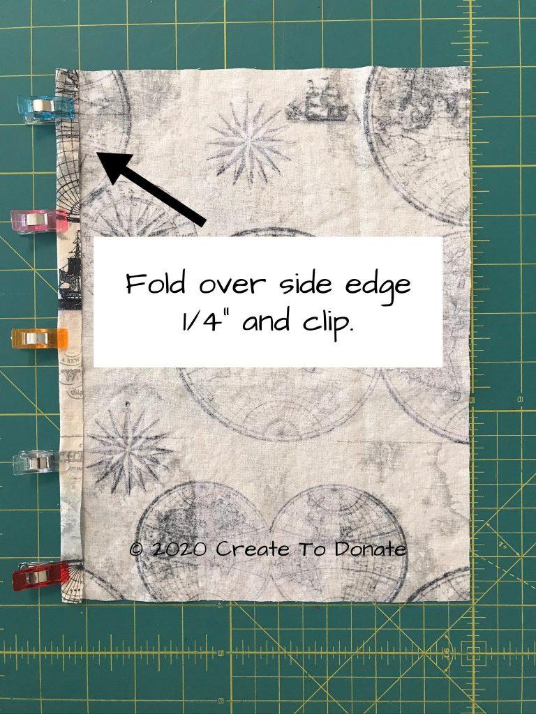 Prepare pocket for left inside panel