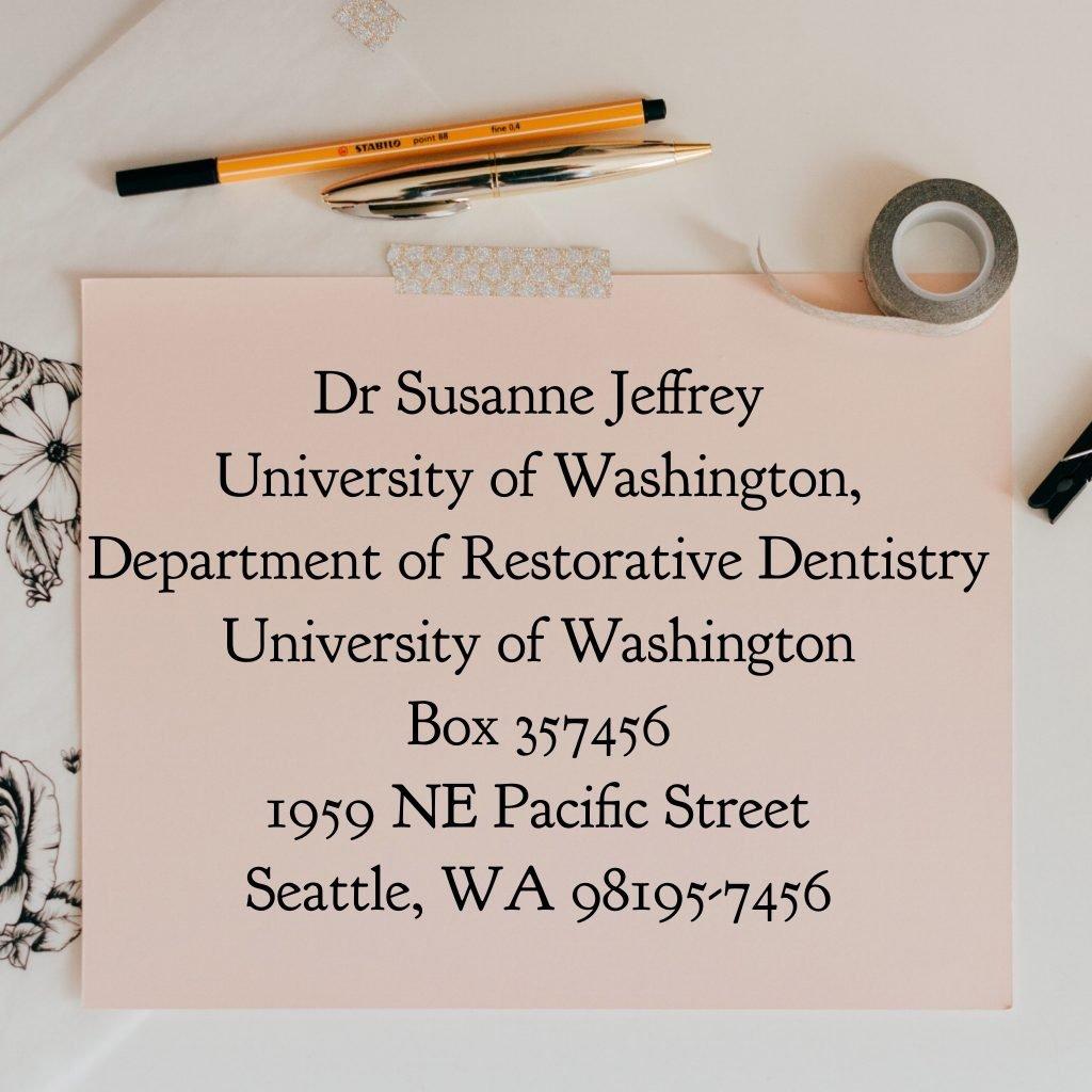 Address to UW Geriatric Dental Clinic