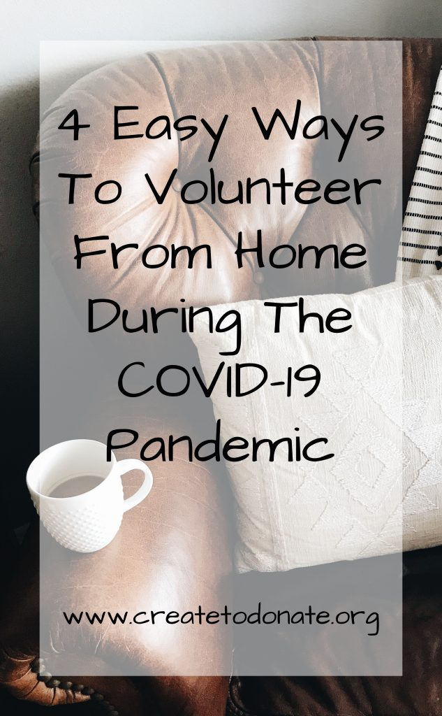 Ways to volunteer from home during COVID