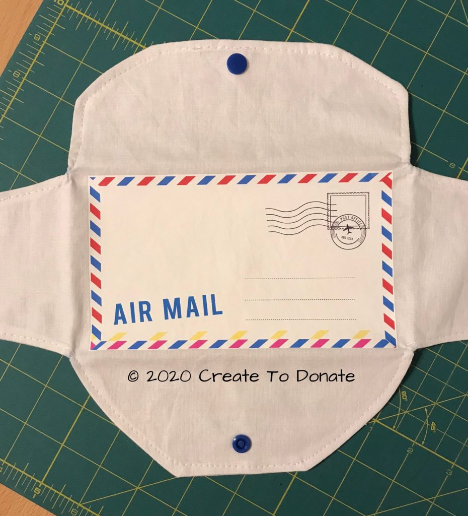 Airmail envelope fabric wallet Create To Donate