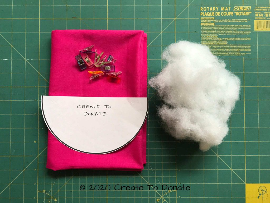 Materials for double mastectomy pillow Create To Donate