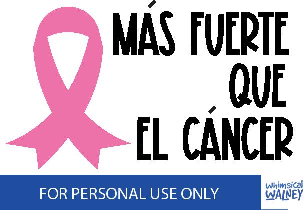 Mas fuerte que el cancer free svg Create To Donate