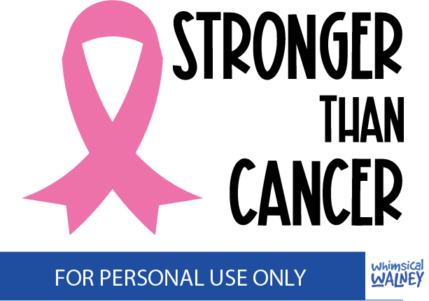 Stronger than cancer SVG free
