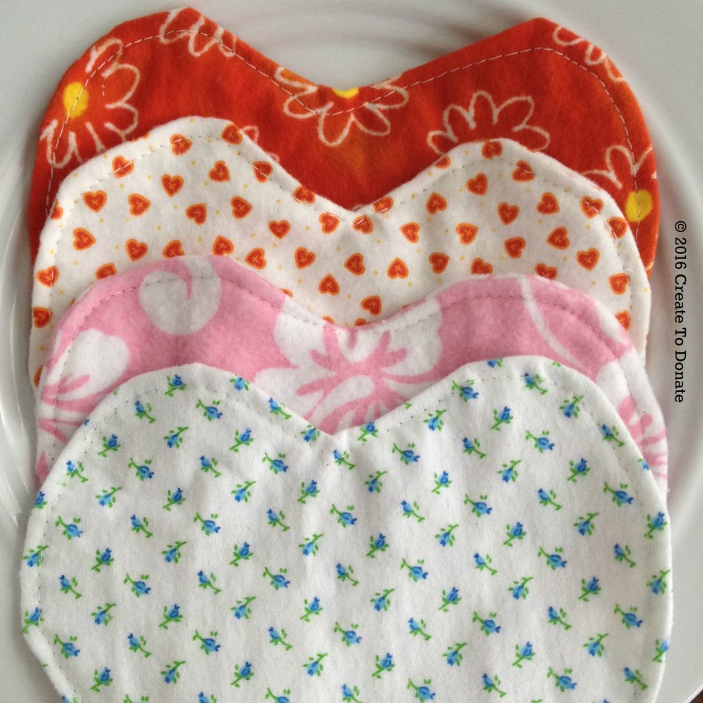 Sew flannel hearts for preemies