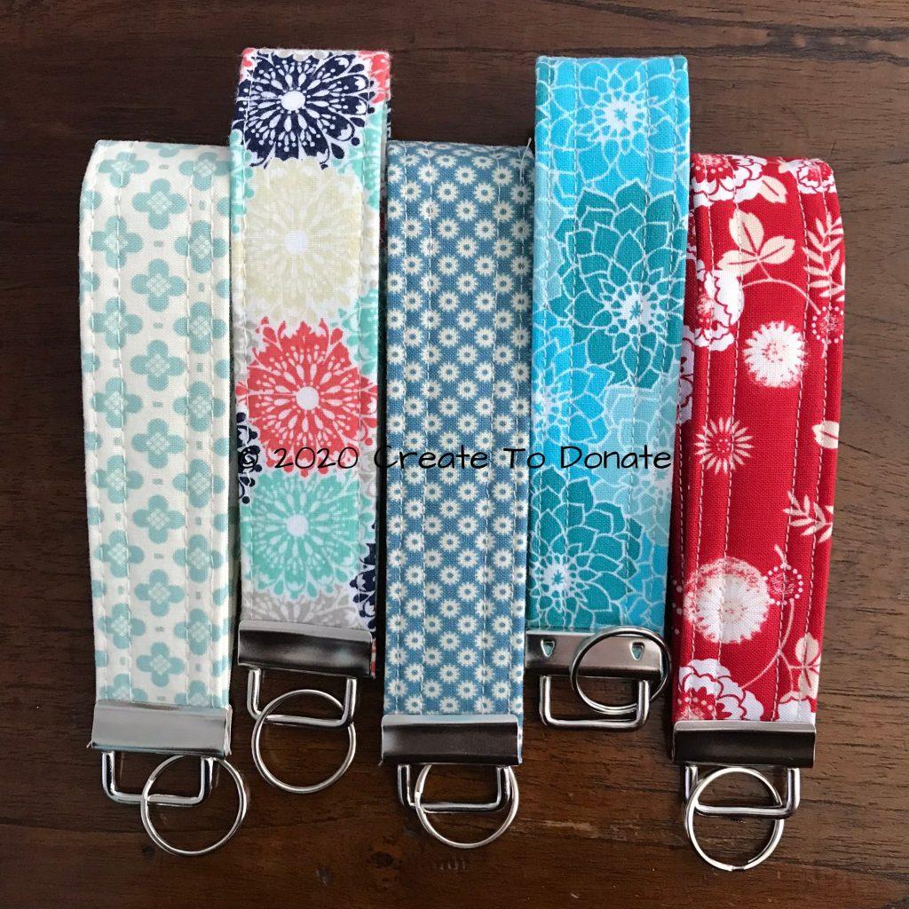 DIY gift fabric key fob