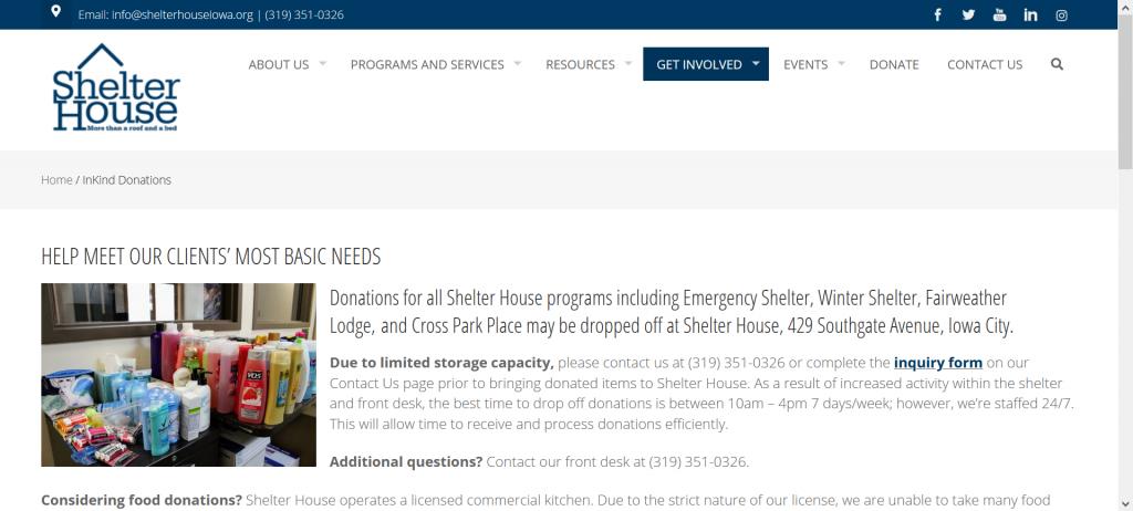 Shelter House Iowa needs fabric mask donations