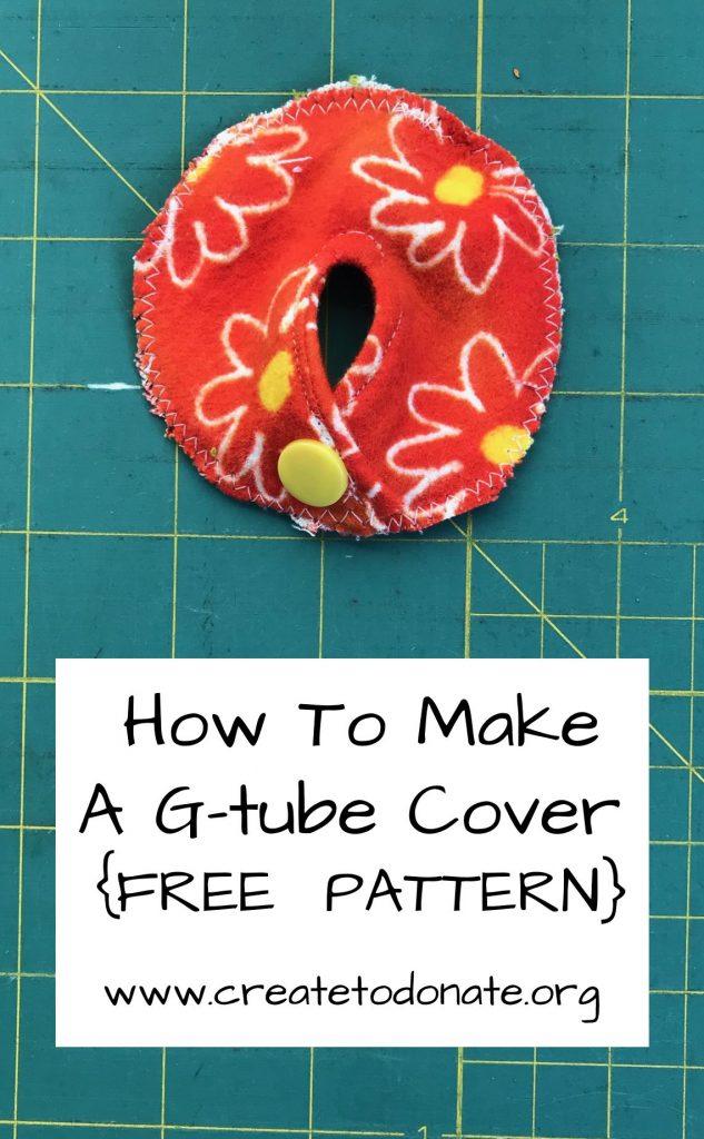 G-tube cover pattern pinterest image