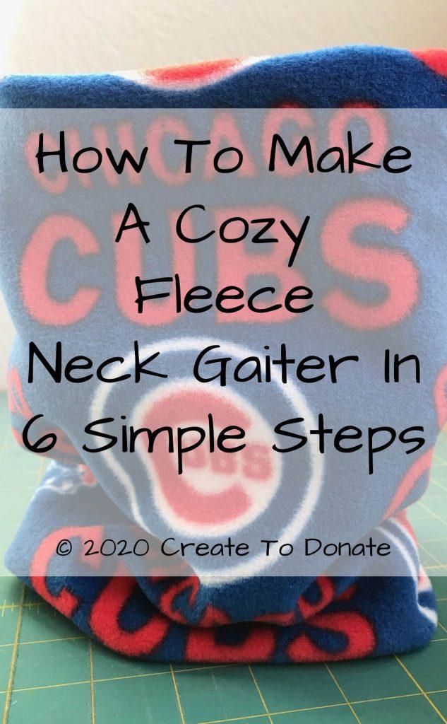 How To Make A Fleece Neck Gaiter Tutorial PINME