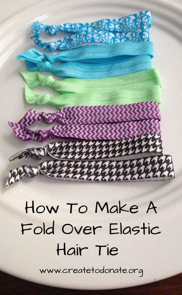 Make a fold over elastic hair tie PINME