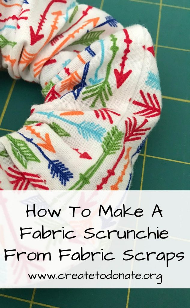 How To Make A Fabric Scrunchie With Fabric Scraps