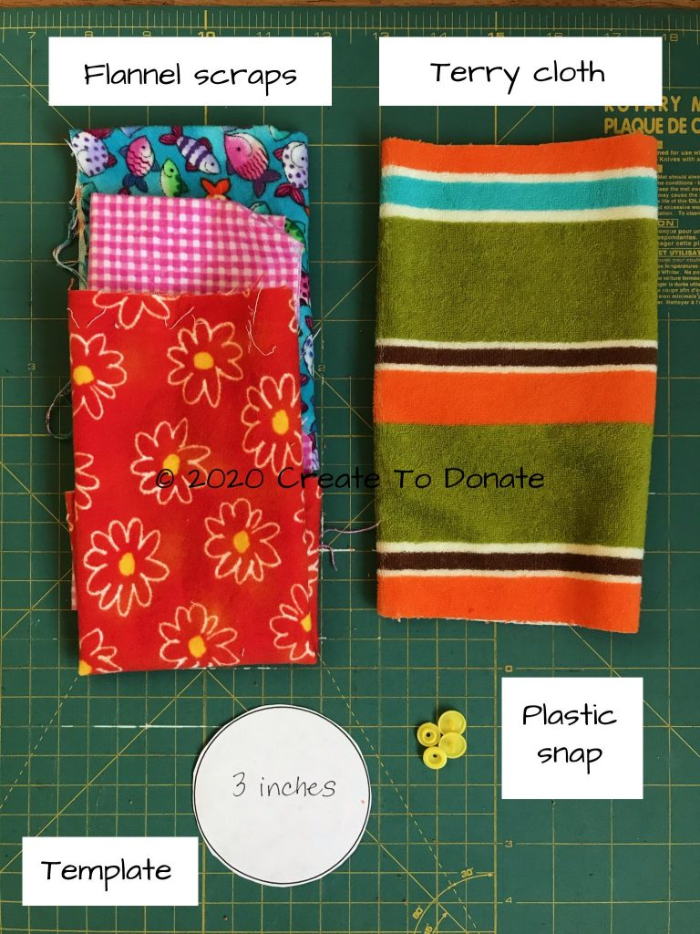 Materials for DIY g-tube cover and free pattern