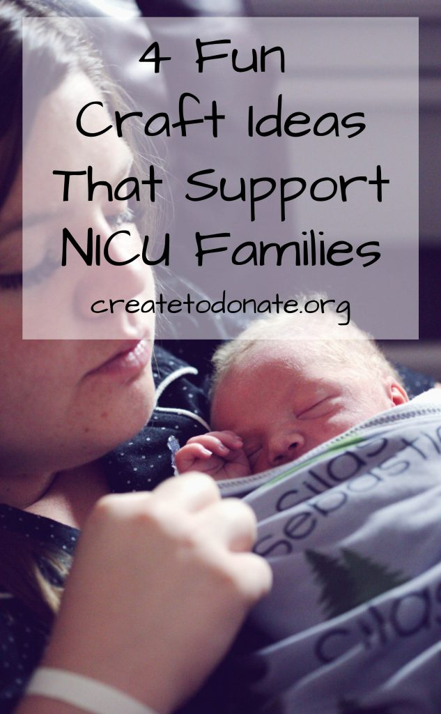 Mother and her small baby to showecase NICU craft ideas to make and donate.