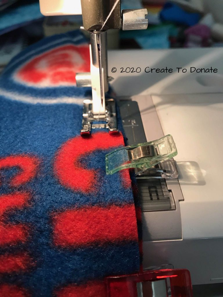 Use zigzag stitch for sewing fleece Create To Donate