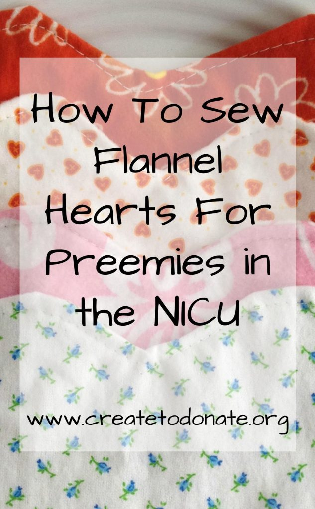 Sew flannel hearts for preemies in the NICU PIN