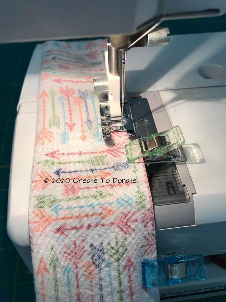 Sew using quarter inch seam allowance