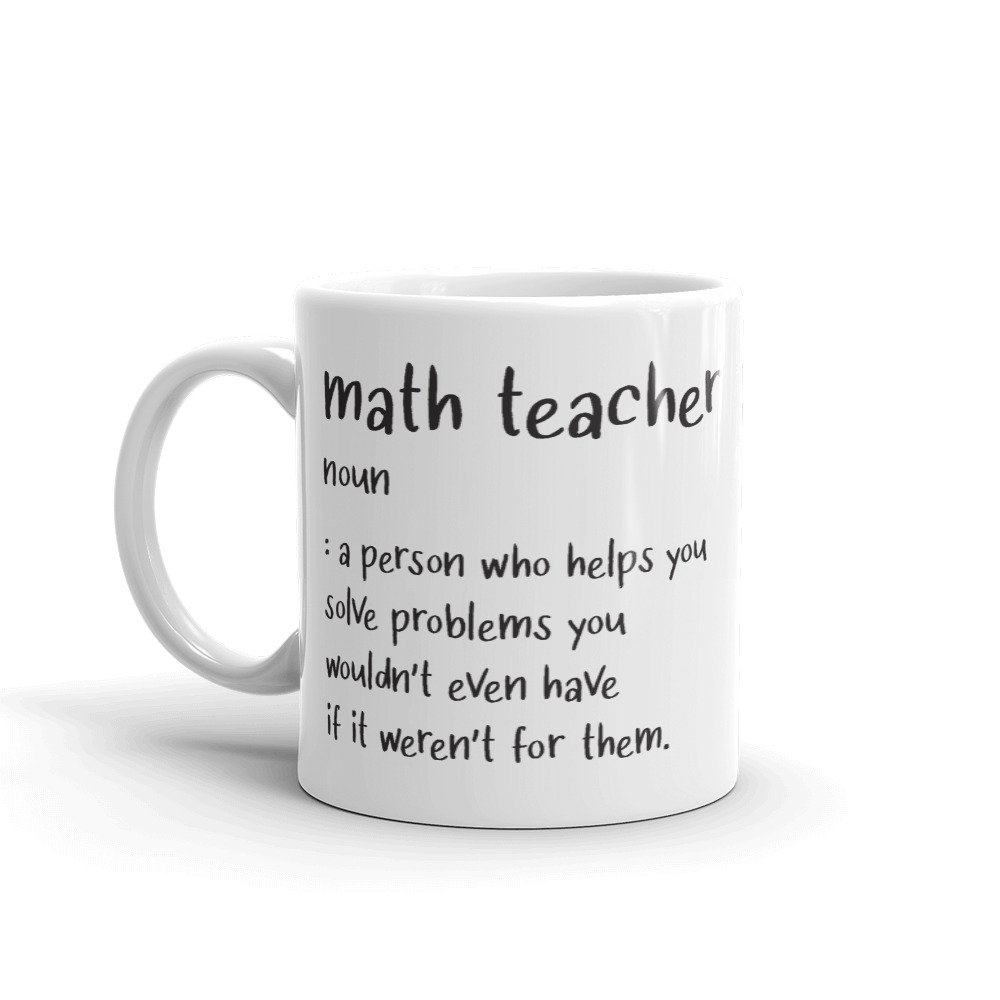 Math teach gift mug Whimsical Walney