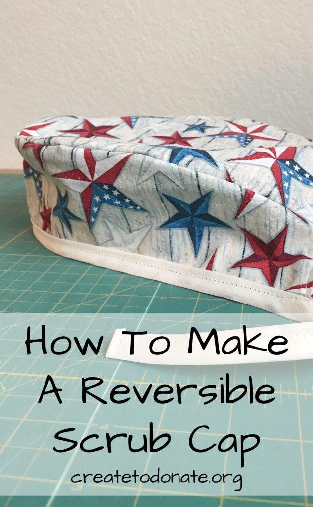 Make a reversible scrub cap