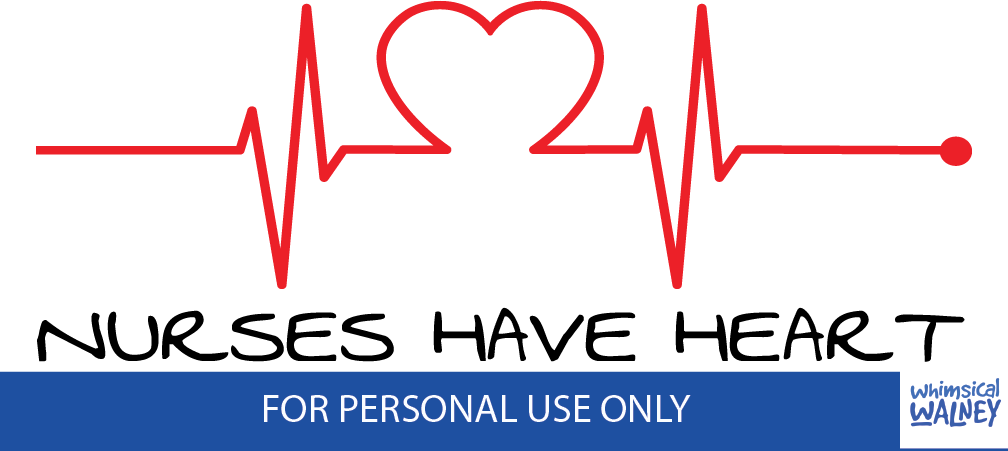 Nurses have heart FREE SVG for custom surgical cap