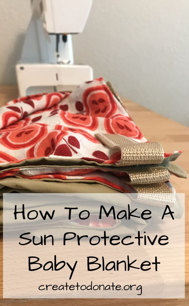 Sun protection blanket image for Pinterest.