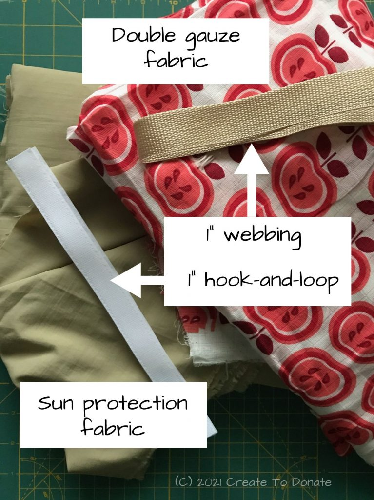 Materials for diy sun protection blanket.