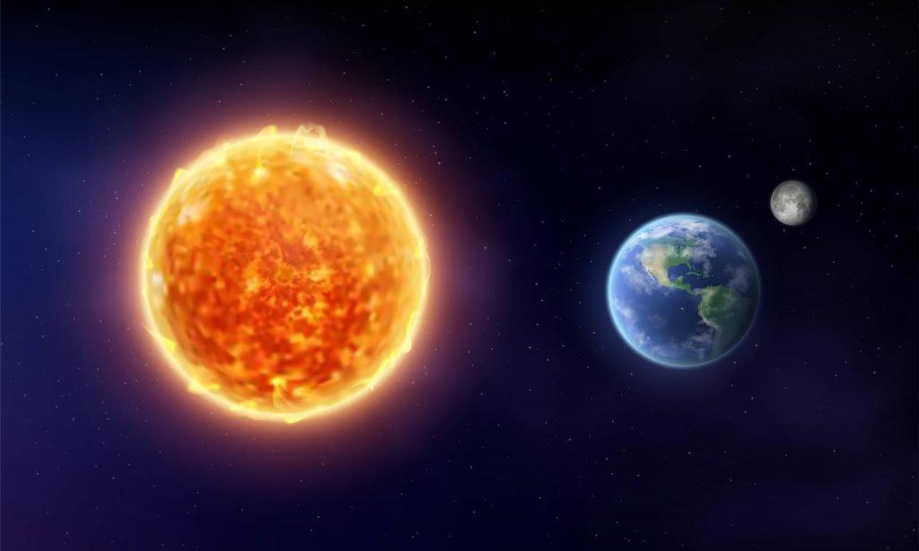 Sun and earth image.