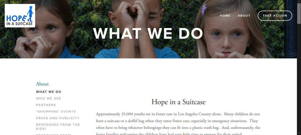 Hope in a suitcase for foster care youth.