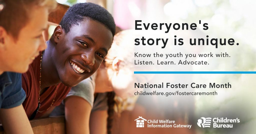 National Foster Care Month 2021 kids smiling.