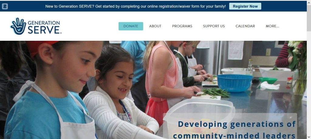 Image from Generation Serve webpage to showcase their site.