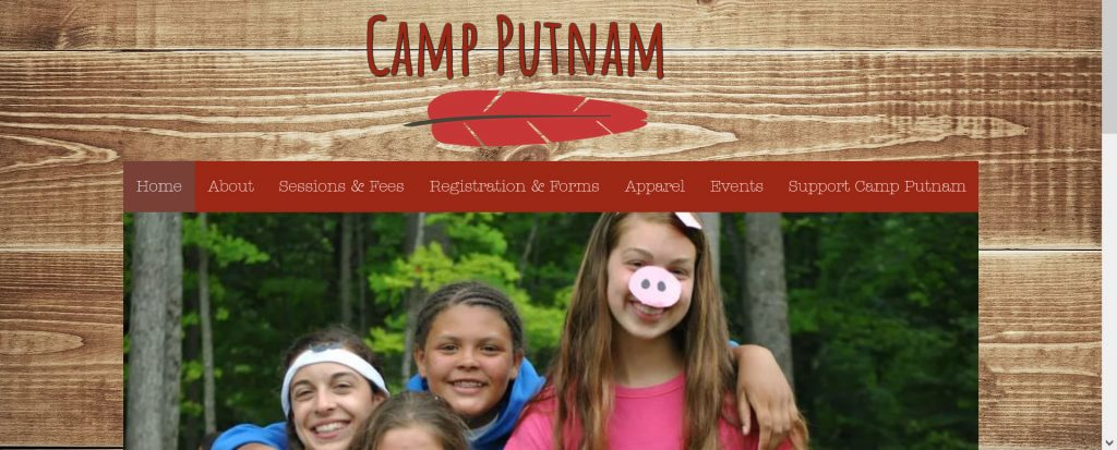 Image of Camp Putnam homepage