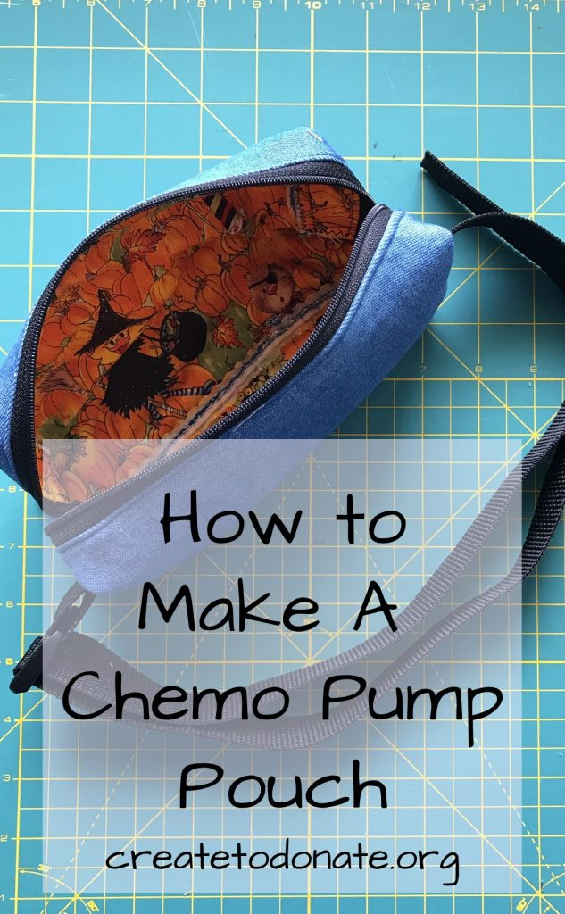 Pin this image to save insturctions on how to make a portable chemo pump fanny pack.