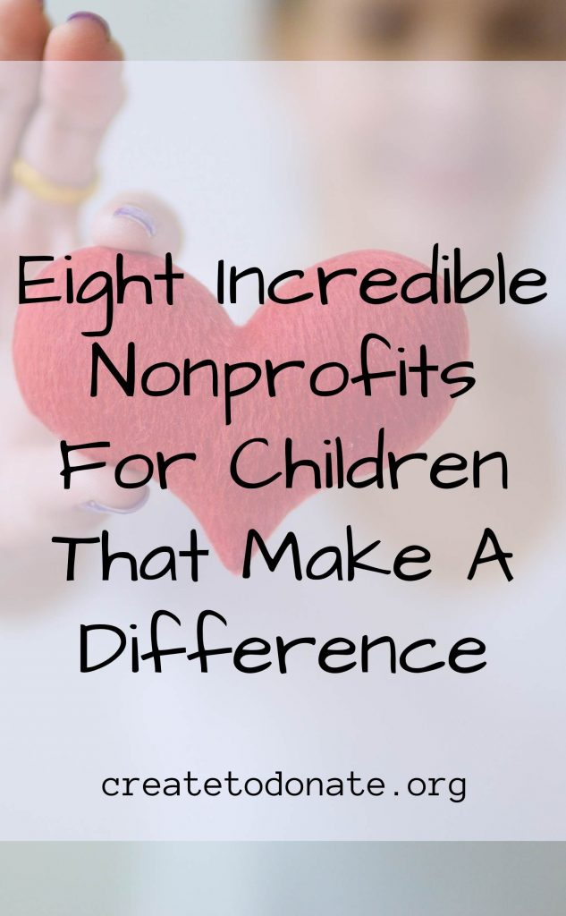Pinterest image for incredible nonprofits for children.