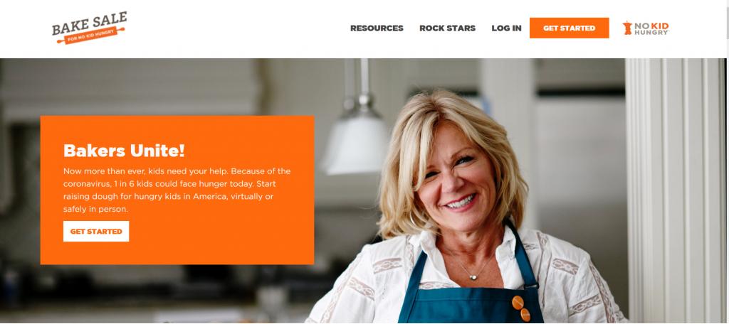 No kid hungry bake sale web page.